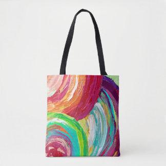 Rainbow tote bag/ pretty tote