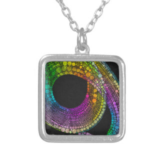 Rainbow Trail Silver Plated Necklace