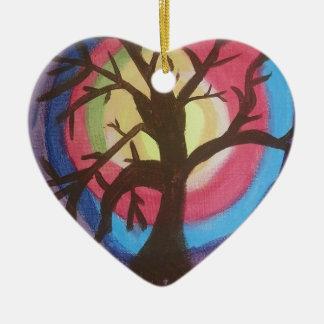 Rainbow Tre.jpg Ceramic Heart Decoration