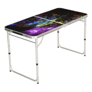 Rainbow Tree Beer Pong Table