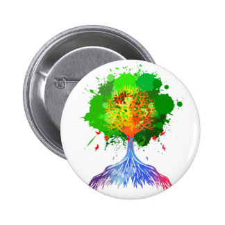 Rainbow Tree of Life 6 Cm Round Badge