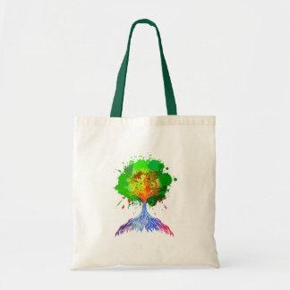 Rainbow Tree of Life Tote Bags