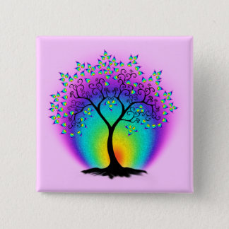 Rainbow Tree of Life Button