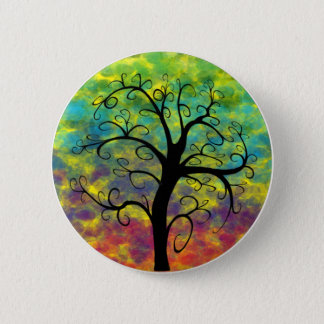 Rainbow Tree of Life Moon Button
