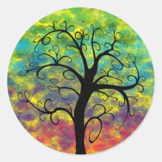 Rainbow Tree of Life Moon Stickers
