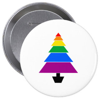 RAINBOW TREE -.png 10 Cm Round Badge