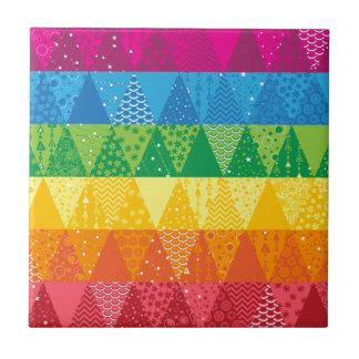 Rainbow Triangles Tile