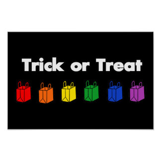 Rainbow Trick or Treat Poster