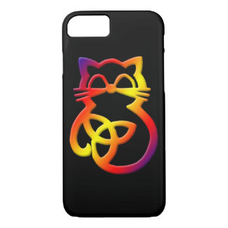 Rainbow Trinity Knot Celtic Cat iPhone 8/7 Case