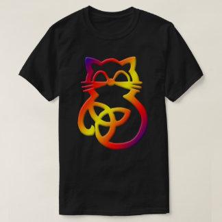 Rainbow Trinity Knot Celtic Cat T Shirt