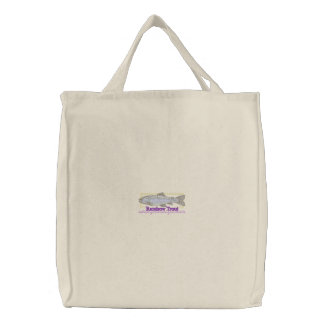 Rainbow Trout Embroidered Bag