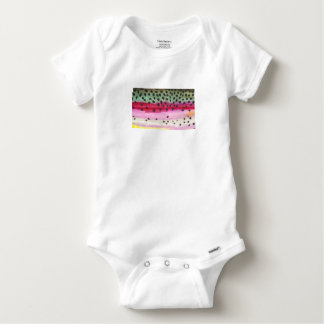 Rainbow Trout Fishing Baby Onesie