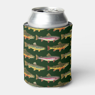 Rainbow Trout Fishing Can Cooler