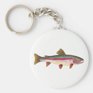 Rainbow Trout Fishing Ichthyology Key Ring