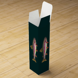 Rainbow Trout Fishing Wine Bottle Boxes