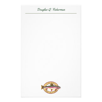Rainbow Trout Fly Fishing FLY GUY Custom Stationery