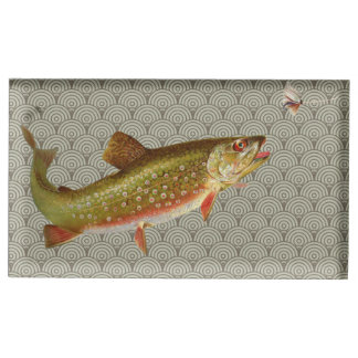 Rainbow trout fly fishing place card holder