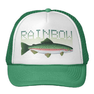 Rainbow trout gift for an angler or fisherman cap