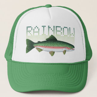 Rainbow trout gift for an angler or fisherman trucker hat
