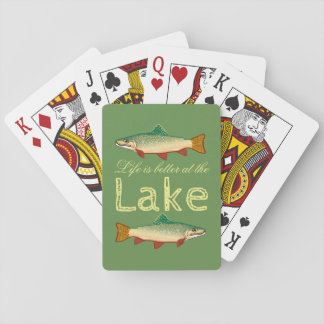 Rainbow Trout | Green Life is better at the Lake Playing Cards