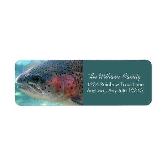 Rainbow Trout Return Address Labels
