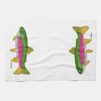 Rainbow Trout Tea Towel