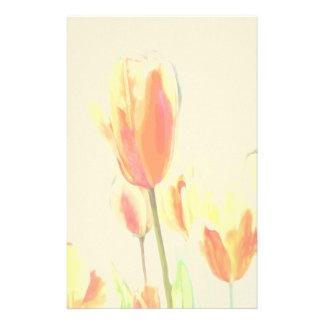 Rainbow Tulip Stationary Stationery