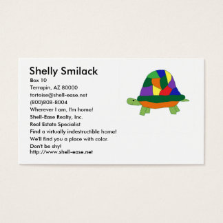 Rainbow Turtle business card