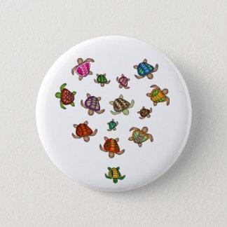 Rainbow Turtle Heart Button