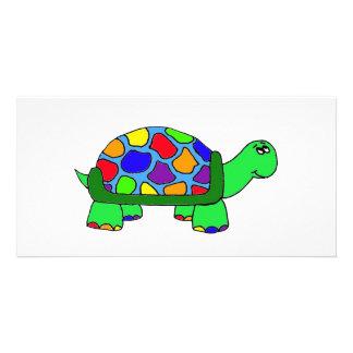 Rainbow Turtle Photo Greeting Card