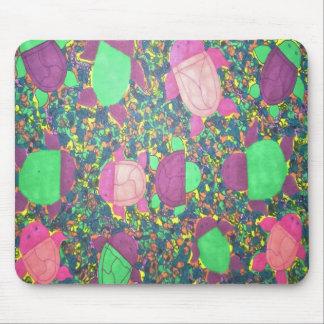 Rainbow Turtles on The Rocks Mouse Pad