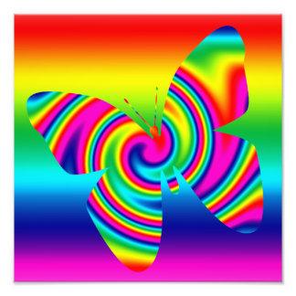 Rainbow Twirl Butterfly Photo Print