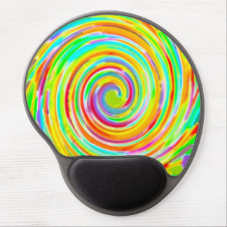 Rainbow Twirl of Color Gel Mouse Pad