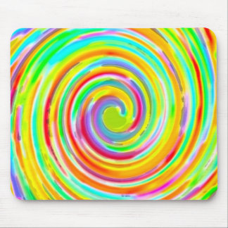 Rainbow Twirl of Color Mouse Pad