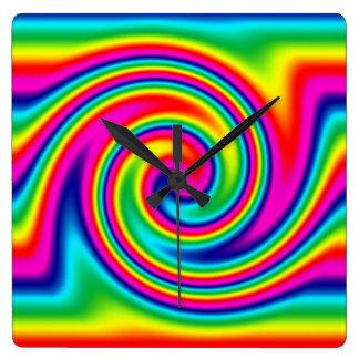 Rainbow Twirl Wall Clock