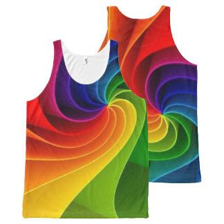 Rainbow Twist All-Over Print Tank Top