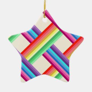 Rainbow Twist Ceramic Ornament