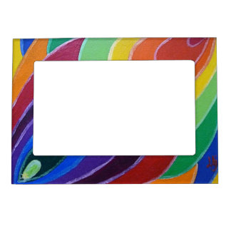 Rainbow Twist Spirals Magnet Photo Frame