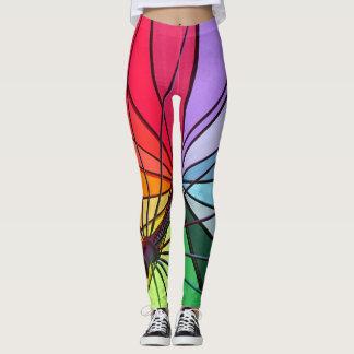 rainbow umbrella leggings