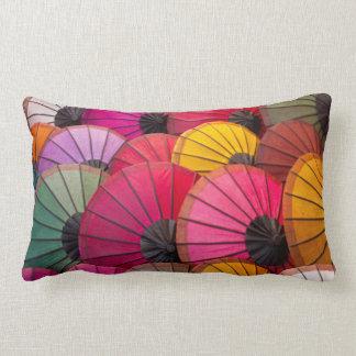 Rainbow Umbrellas Lumbar Cushion