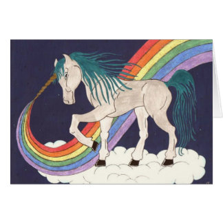 Rainbow Unicorn All-Occasion Card