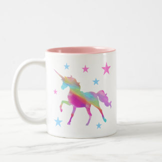 Rainbow Unicorn And Stars Mug