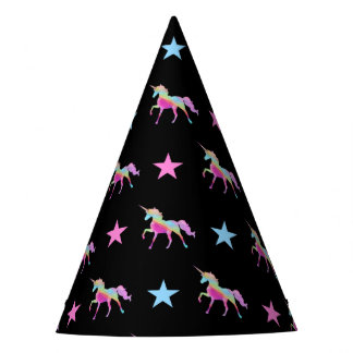 Rainbow Unicorn And Stars Party Hat