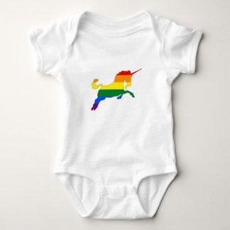 Rainbow Unicorn Baby Bodysuit