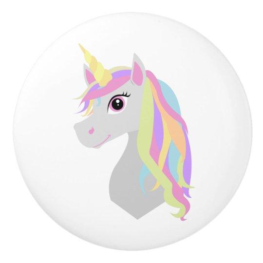 Rainbow Unicorn Ceramic Knob