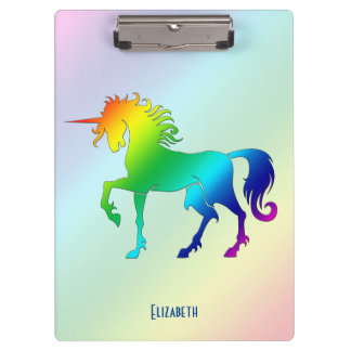 Rainbow Unicorn Clipboard