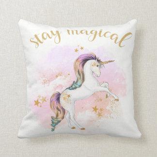 Rainbow Unicorn Cushion, Stay Magical Cushion