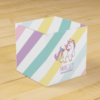 Favour Boxes - Rainbow Unicorn Girls Birthday Party Favor Box