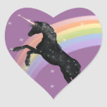 Rainbow Unicorn Heart Sticker
