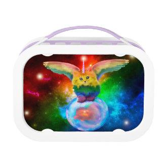 Rainbow Unicorn Kitten Bubble Gold Fish  Lunch Box